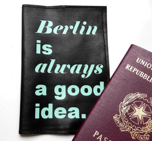 Berlin Is Always a Good Idea Men's Passport Holder, Personalized Men's Passport Cover
