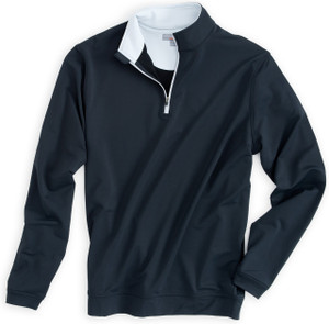 Peter Millar Perth Performance Pullover in Black