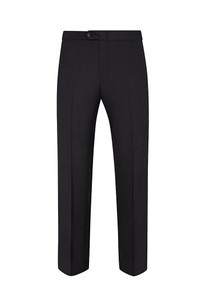 Hickey Freeman Tuxedo Flat Front Trousers: Beacon in Black
