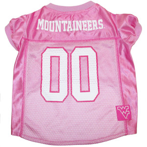 WVU Pink Dog Jersey by Pets First