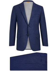 Hickey Freeman Sharkskin Tasmanian Suit: Beacon in Navy