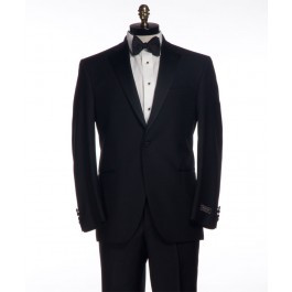 Jack Victor 1 Button Gable Tuxedo in Black