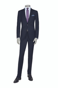 Jack Victor Century Modern Fit Super 150s Suit in Navy