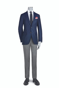 Jack Victor Luxury Collection Modern Fit Sportcoat in Navy