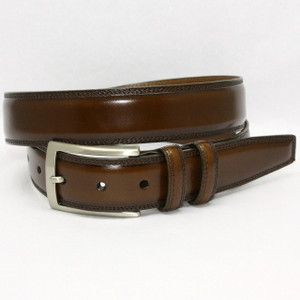 Torino Belts Hand Stained Italian Kipskin Belt in Brown