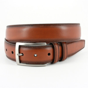 Torino Belts Hand Stained Italian Kipskin Belt in Walnut