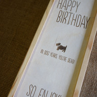 Wooden engraved winebox with personalised birthday message