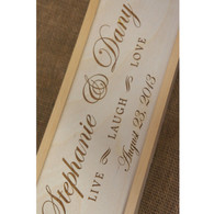 Wooden Wedding Winebox - personalised wooden gift