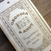 Wooden Wedding Double Personalised Winebox - Congratulation on your wedding graphics