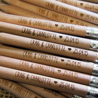 Engraved, personalised, wooden Short Round (Golf) Pencils
