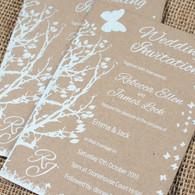 Kraft Wedding Invitations - Butterfly