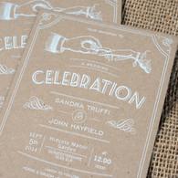 Kraft Wedding Invitations - Celebration