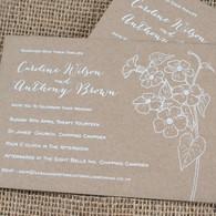Kraft Wedding Invitations - Posy