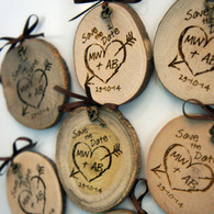 Wooden Save the Date Wood Slice Magnet