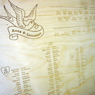 Style  (Swallows) - Wooden Wedding Table Plan
