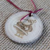 Rustic Wood Slice Christmas Decoration - Big Santa