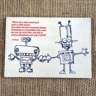 Wooden Printed Postcard - Life is a Little Weird!