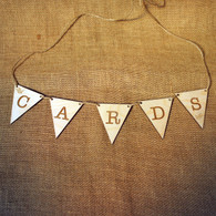 "Wooden Wedding ""Cards"" Bunting - ideal for your wedding card box"