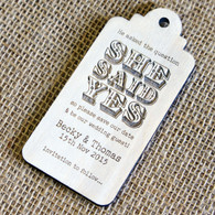Wooden Save the Date Magnet Luggage Tag 04