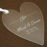 Personalised acrylic wedding place name