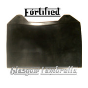 Lambretta GP Fortified BLACK RUBBER REAR MUDFLAP orig Italian spec + Li,SX,TV
