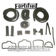 FORTIFIED Lambretta s1/s2 Li / TV GREY RUBBERS & BEADINGS SET inc Grips / Pedals