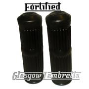 Quality FORTIFIED Lambretta Series 1 & 2 Li/TV BLACK RUBBER HANDLEBAR GRIPS