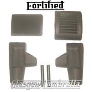 FORTIFIED Lambretta Li/SX/TV/GP GREY BRAKE, KICKSTART PEDAL & STAND FEET RUBBERS