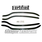 FORTIFIED Lambretta s1 & s2 Li / TV BLACK REAR FLOOR RUNNER STRIPS + FIXINGS