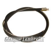 Lambretta s1, s2 & s3 BLACK REAR BRAKE CABLE (Inner & Outer) Li/SX/TV/GP/Special