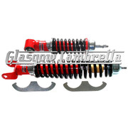 Carbone Italian Top Quality Vespa Small Frame RED & BLACK SHOCK ABSORBERS SET
