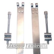 Lambretta Series 2 & 3 STAINLESS STEEL PETROL TANK STRAPS + BOLTS  Li /TV/SX/Special/GP