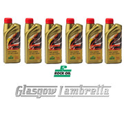 HALF CASE 6 x 1 Litre ROCK OIL SYNTHESIS 2 RACING F/S 2T ENGINE OIL + Free OIL MEASURE JUG