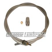 Vespa GS/Rally/Sprint etc Italian Screw-In SPEEDO / SPEEDOMETER CABLE INNER & OUTER (TEFLON)