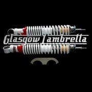 Carbone Italian Quality Vespa GT, GTS, GTV WHITE REAR SHOCK ABSORBER SET