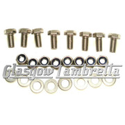 Lambretta DUAL SEAT NYLOC STAINLESS STEEL FIXING KIT for S2 & S3 Scooters