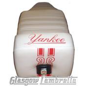 Vespa & LML  Repro/Copy GIULIARI YANKEE SEAT in WHITE & RED