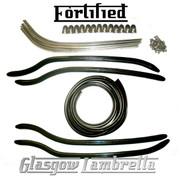 FORTIFIED Lambretta Series 1 & 2 Li / TV COMPLETE BLACK FLOOR KIT + FIXINGS
