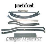 FORTIFIED Lambretta Series 3 COMPLETE GREY FLOOR KIT + FIXINGS Li, TV, SX & Special