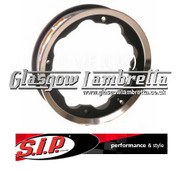 S.I.P. Lambretta Tubelees Wheel Rim Black/Polished Set of 2
