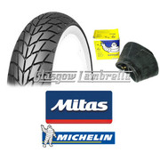 Mitas MC20 Whitewall 350 x 10 + Airstop Tube Set of 2
