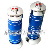 Vespa PX/LML BLUE & CHROME HANDLEBAR GRIPS