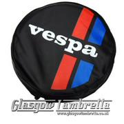 Vespa RED/BLUE STRIPED WHEEL COVER