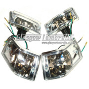 Vespa PX / LML COMPLETE INDICATOR SET with LEXUS STYLE CLEAR LENSES