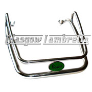 Vespa PX Scooter POLISHED STAINLESS STEEL FRONT MUDGUARD BUMPER c/w GREEN BADGE