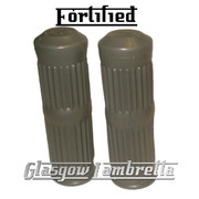 Top Quality FORTIFIED Lambretta Series 3 Li/SX/TV/Special GREY RUBBER HANDLEBAR GRIPS