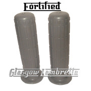 Top Quality FORTIFIED Lambretta Series 1 & 2 Li/TV GREY RUBBER HANDLEBAR GRIPS
