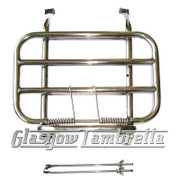 Lambretta S1 S2 & S3 POLISHED STAINLESS STEEL FRONT RACK (Drilling required)