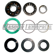 Lambretta GP/DL MAG & CRANKSHAFT BEARINGS + WASHERS + ROLF SEALS KIT