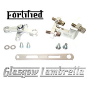 FORTIFIED Lambretta CUSTOM GEAR LINKAGE KIT SILVER CNC ALLOY
